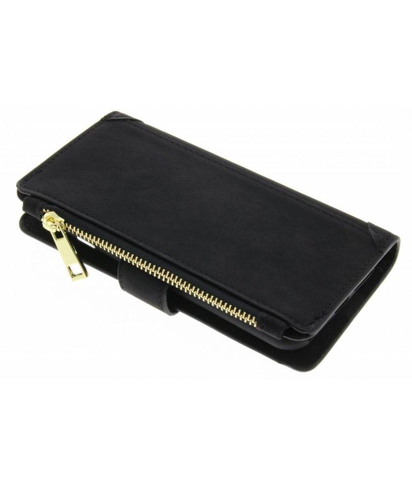 Zwart luxe portemonnee hoes iPhone 8 / 7