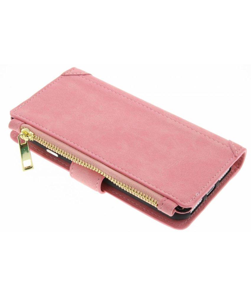 Roze luxe portemonnee hoes iPhone 7