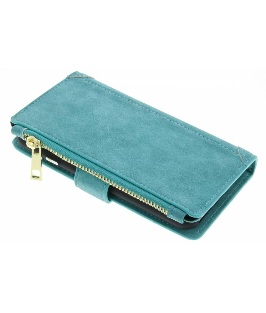 Turquoise luxe portemonnee hoes iPhone 8 / 7