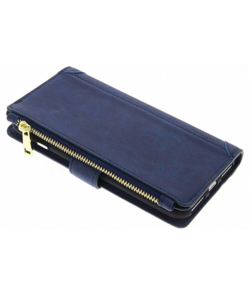 Blauw luxe portemonnee hoes iPhone 8 Plus / 7 Plus