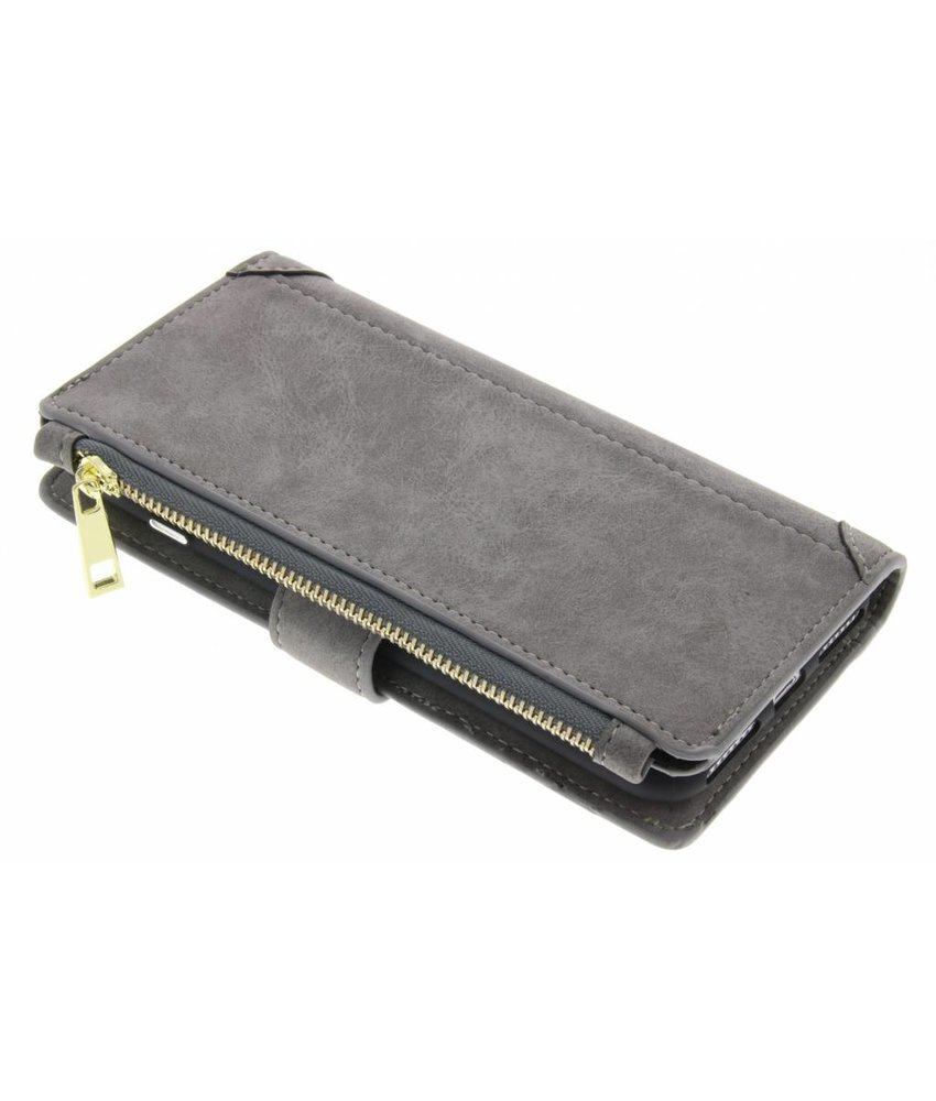 Grijs luxe portemonnee hoes iPhone 8 Plus / 7 Plus