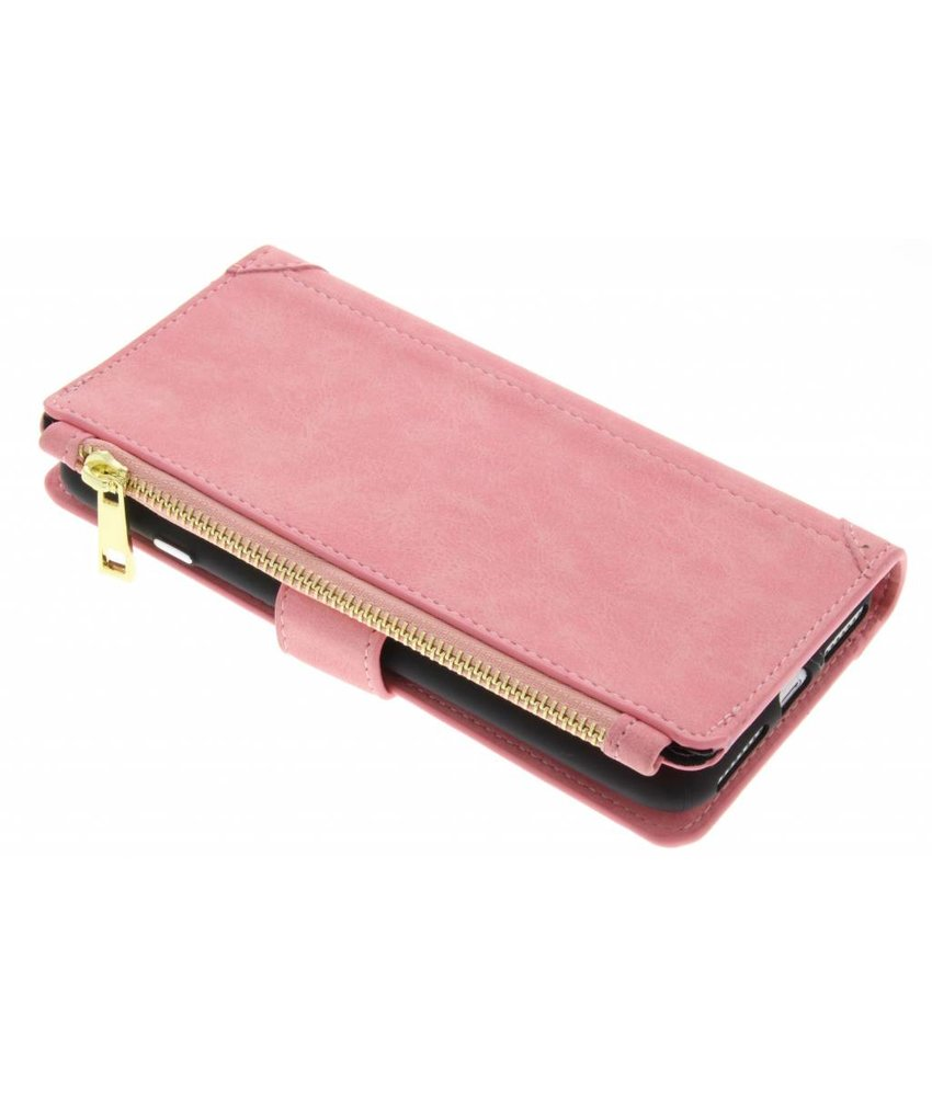 Roze luxe portemonnee hoes iPhone 8 Plus / 7 Plus