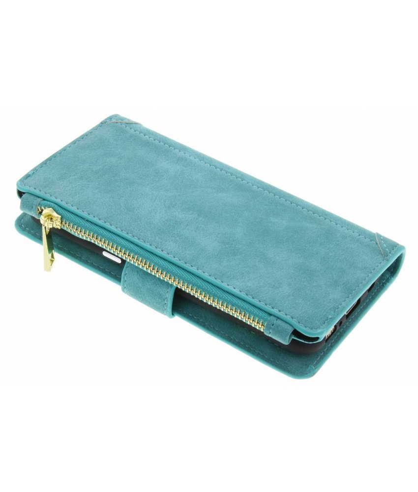 Turquoise luxe portemonnee hoes Samsung Galaxy S8 Plus