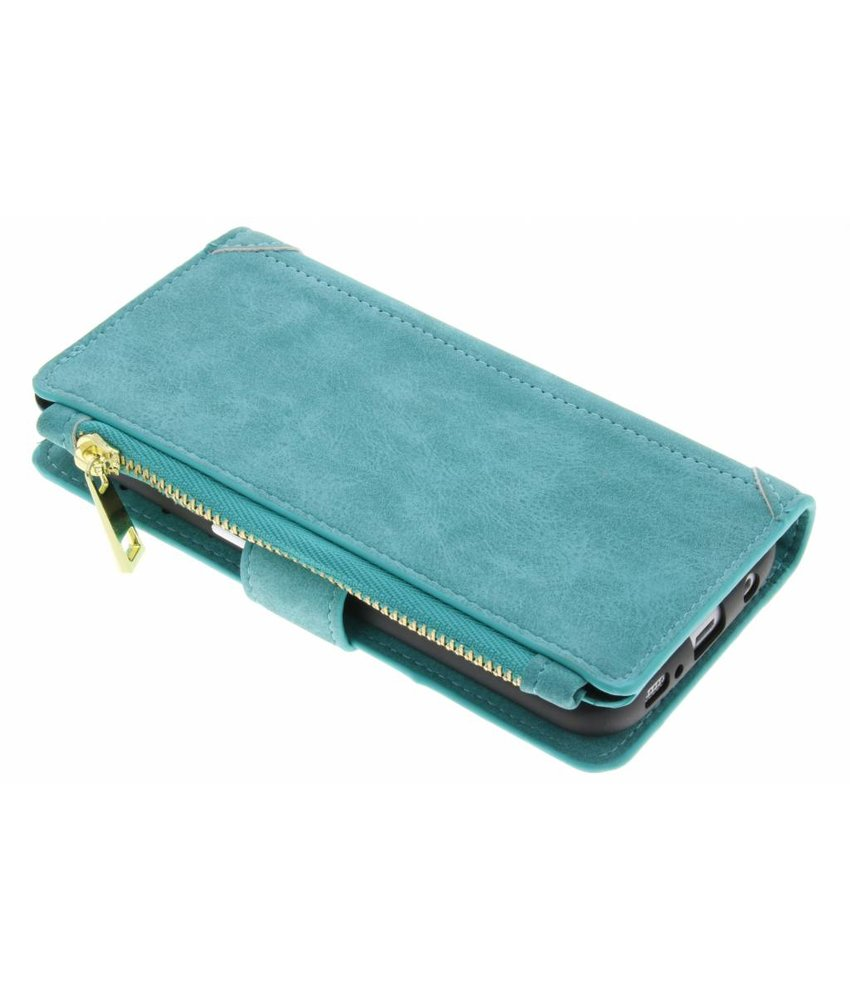 Turquoise luxe portemonnee hoes Samsung Galaxy S7 Edge