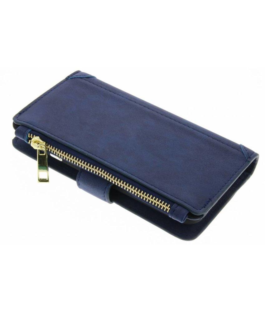 Blauw luxe portemonnee hoes iPhone 6 / 6s