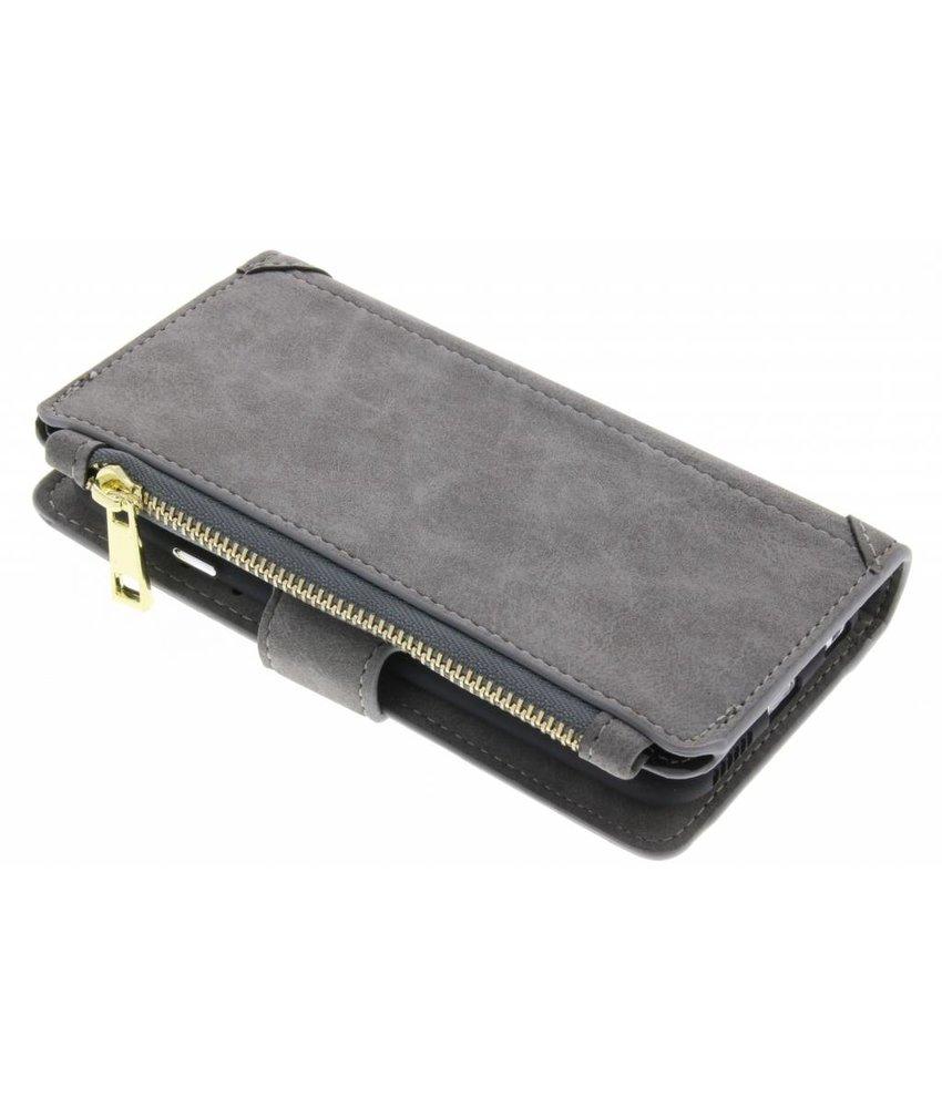 Grijs luxe portemonnee hoes iPhone 6 / 6s
