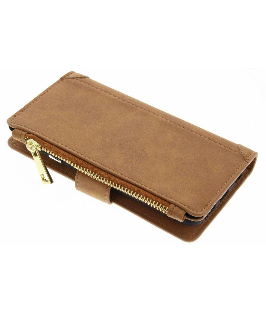 Bruin luxe portemonnee hoes iPhone 6 / 6s