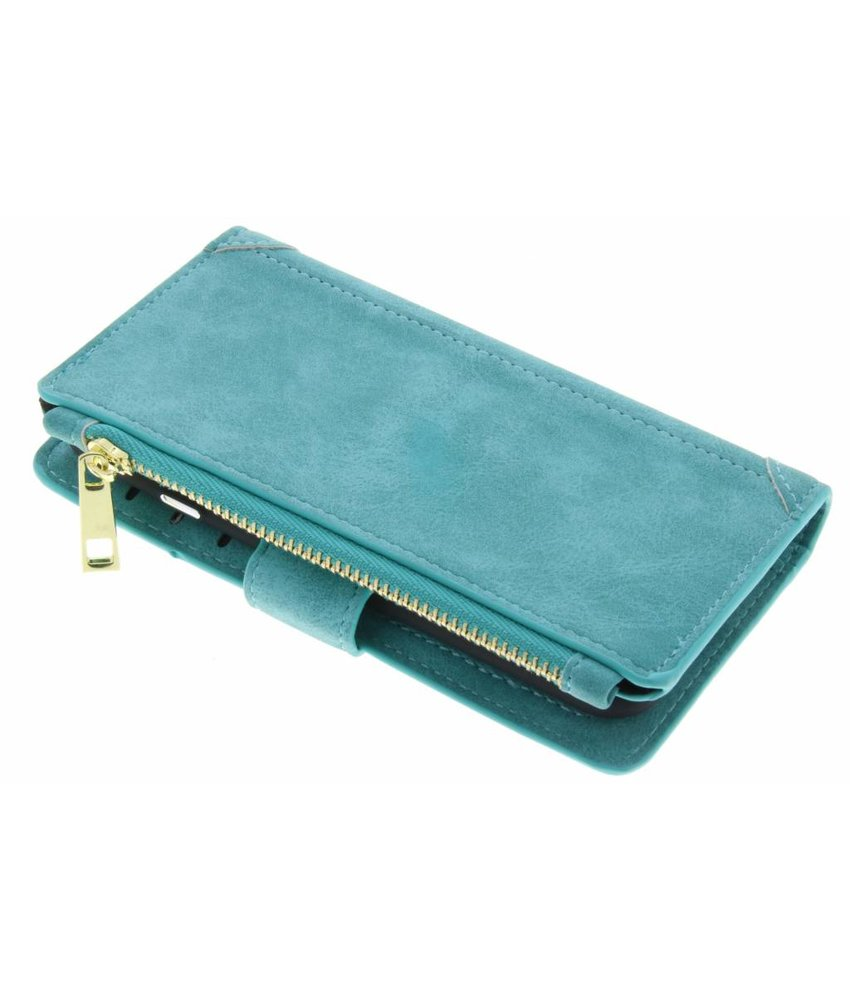Turquoise luxe portemonnee hoes iPhone 6 / 6s