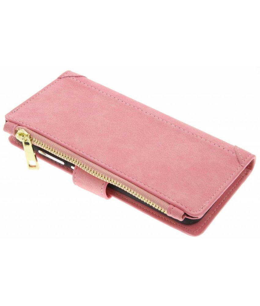 Roze luxe portemonnee hoes Huawei P10