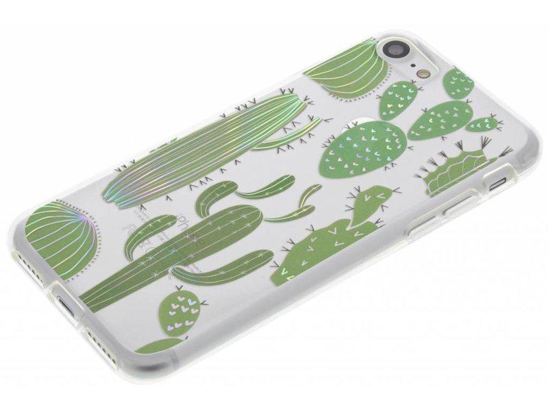iPhone 7 hoesje - Holographic cactus case voor
