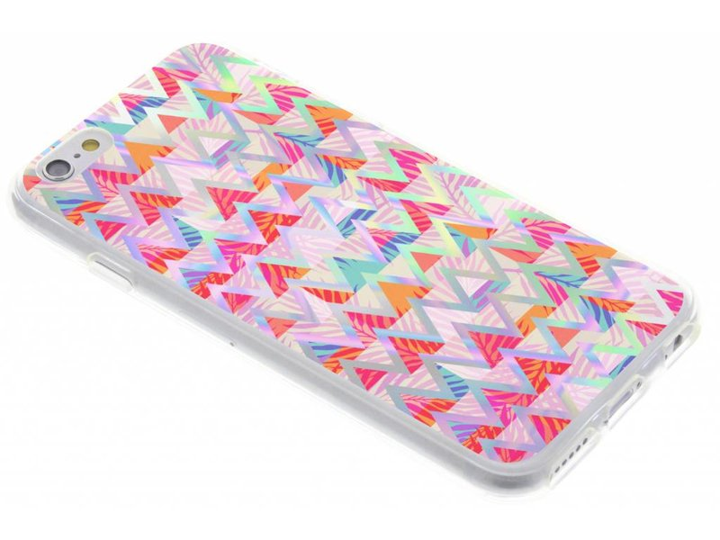 iPhone 6 / 6s hoesje - Holographic colorful case voor