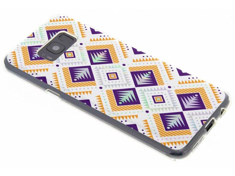 Samsung Galaxy S8 Plus hoesje - Holographic aztec case voor