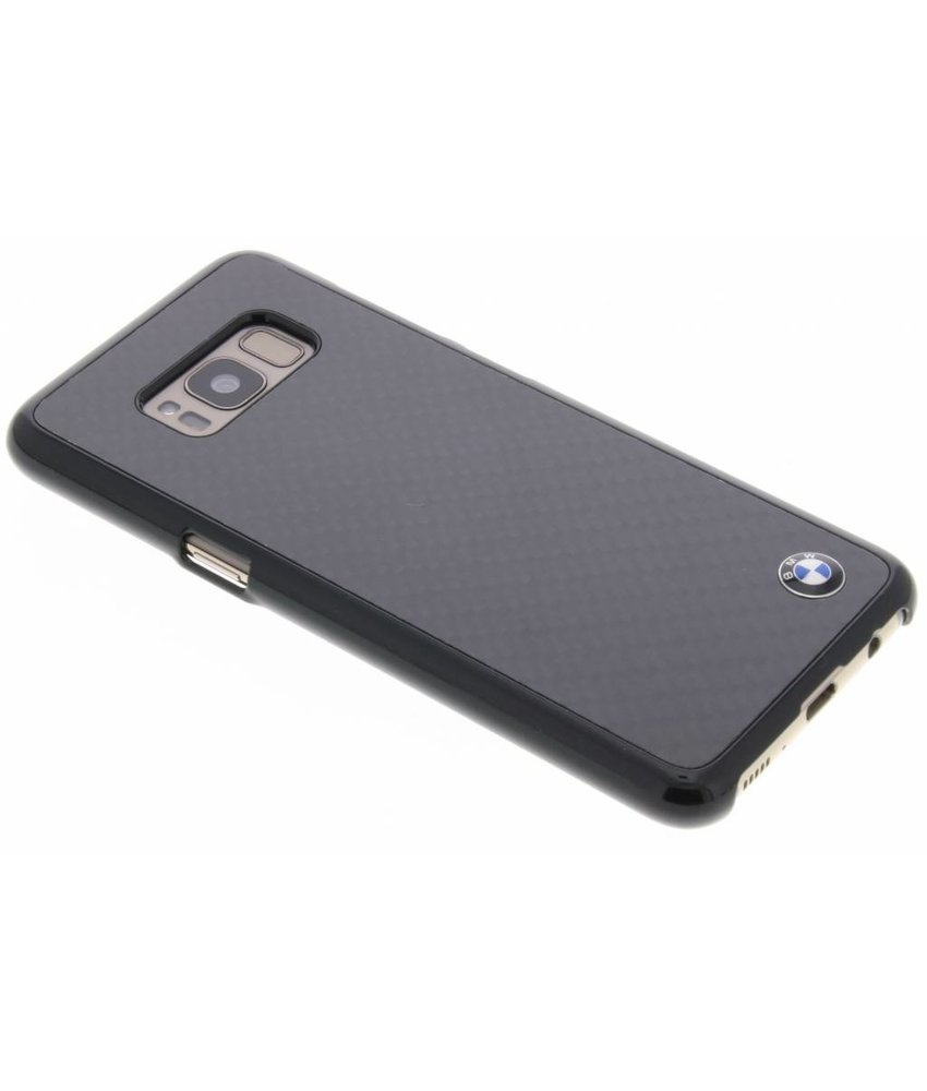 BMW Zwart Real Carbon Fiber Case Samsung Galaxy S8