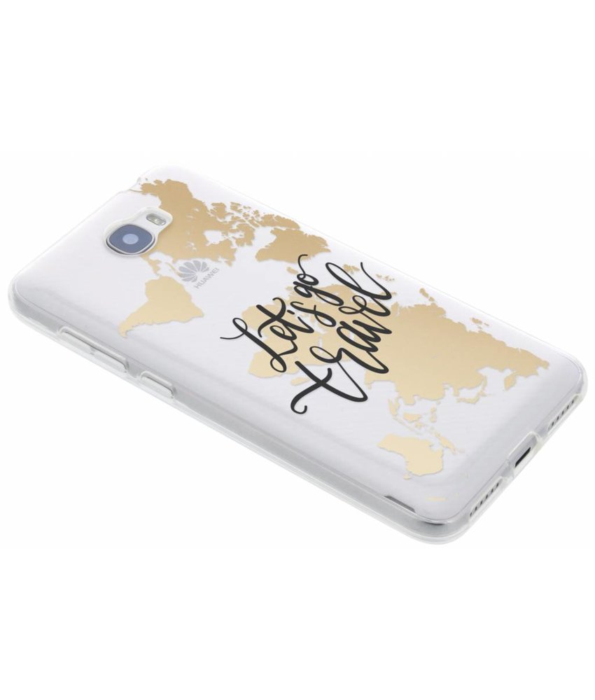 Quote design TPU hoesje Huawei Y5 2 / Y6 2 Compact