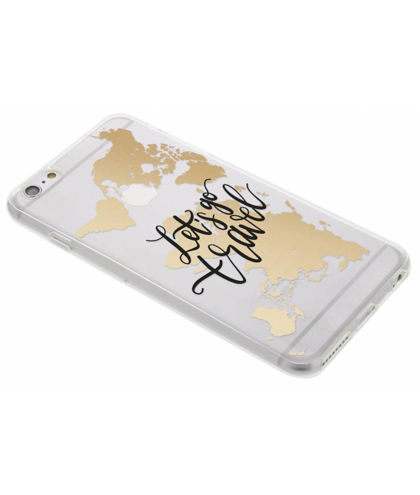 Quote Design TPU hoesje iPhone 6(s) Plus