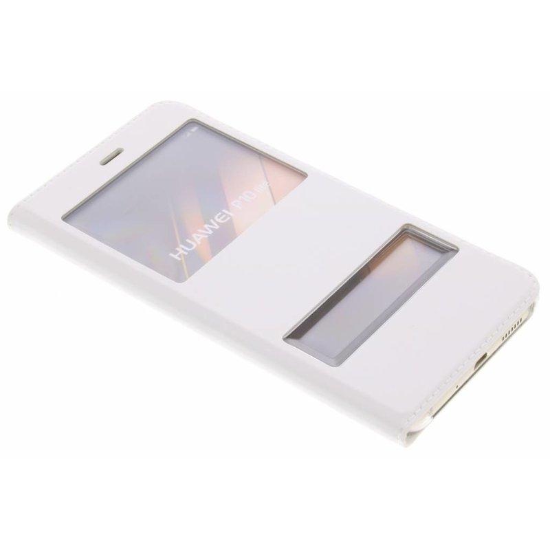 Wit slim booktype hoes met venster Huawei P10 Lite