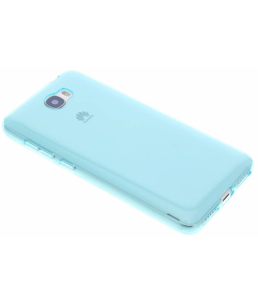 Turquoise transparant gel case Huawei Y5 2 / Y6 2 Compact