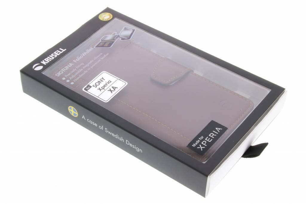 Sigtuna Foliowallet Pour Sony Xperia Xa - Café xKld0Bf