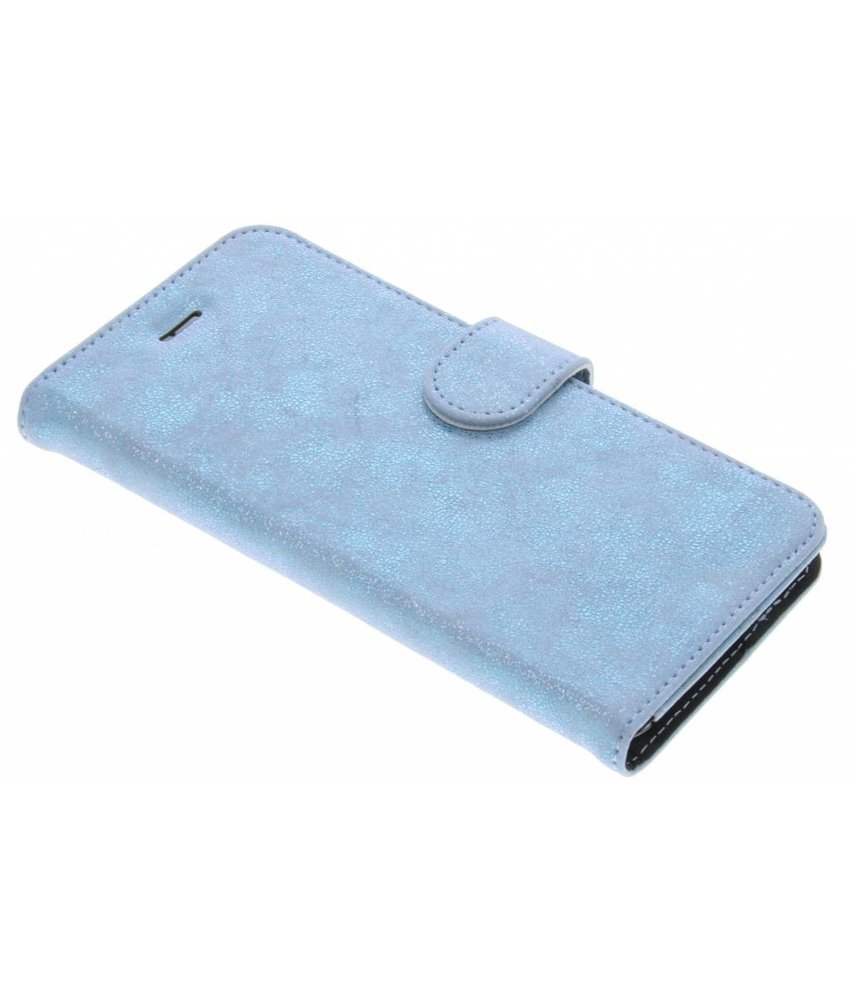 Accezz Blauw Glitter Wallet TPU Booklet iPhone 6(s) Plus