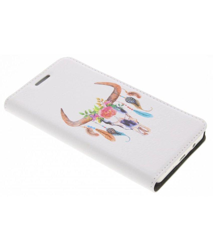 Bull Skull Design Booklet Samsung Galaxy A3