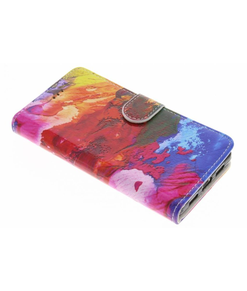 Design TPU booktype hoes Huawei P8 Lite