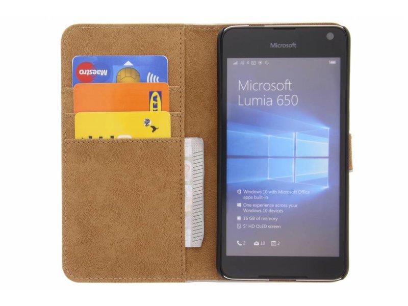 Microsoft Lumia 650 hoesje - Selencia Zilveren Luxe Book