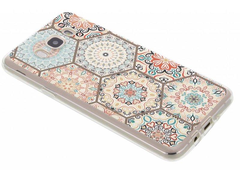 Samsung Galaxy J7 (2016) hoesje - Hippie design TPU hoesje