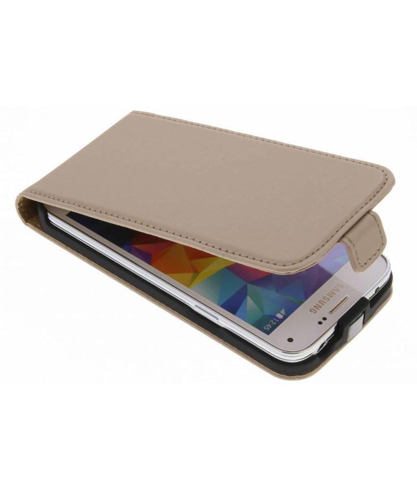 Selencia Goud Luxe Flipcase Samsung Galaxy S5 Mini