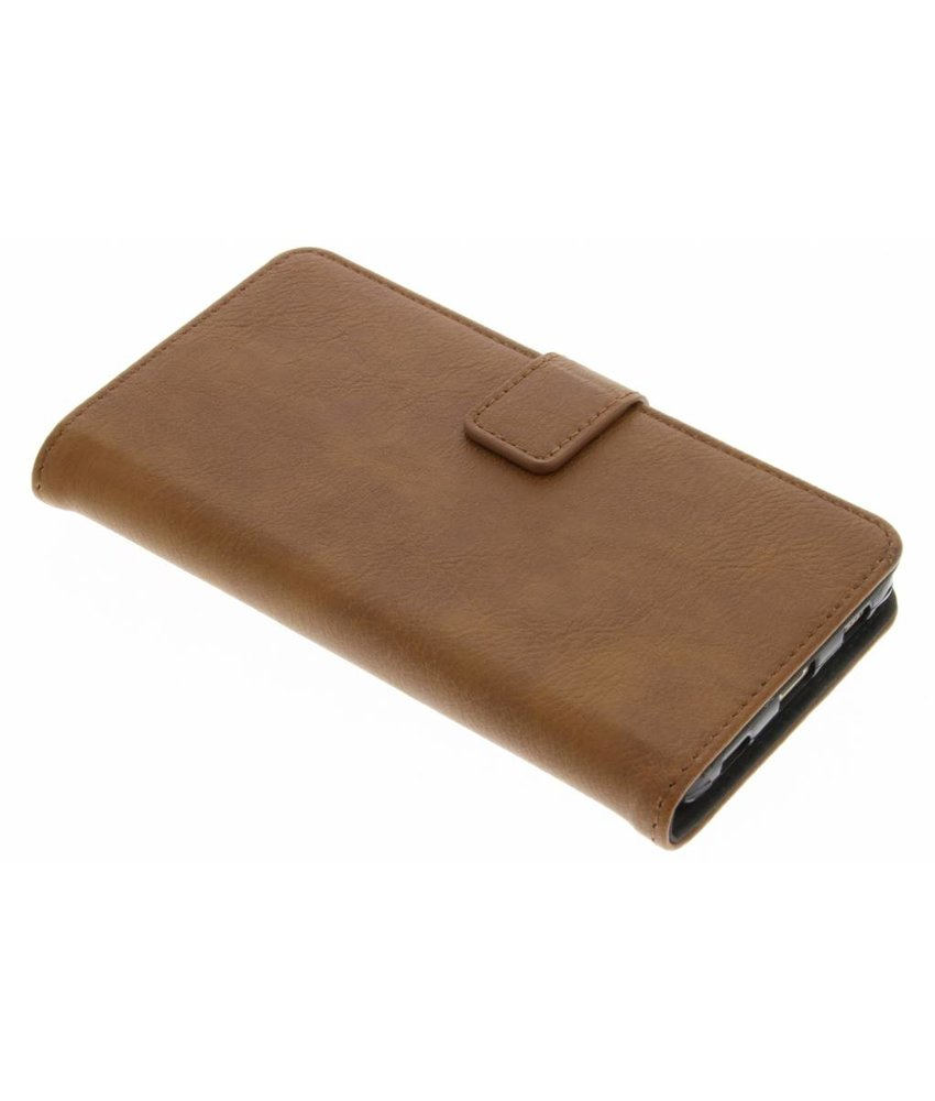 Kastanjebruin luxe leder booktype hoes Huawei P8