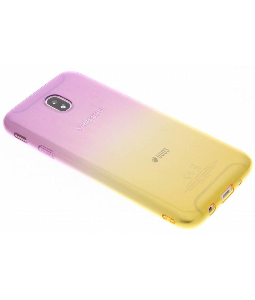Tweekleurig TPU siliconen hoesje Samsung Galaxy J7 (2017)