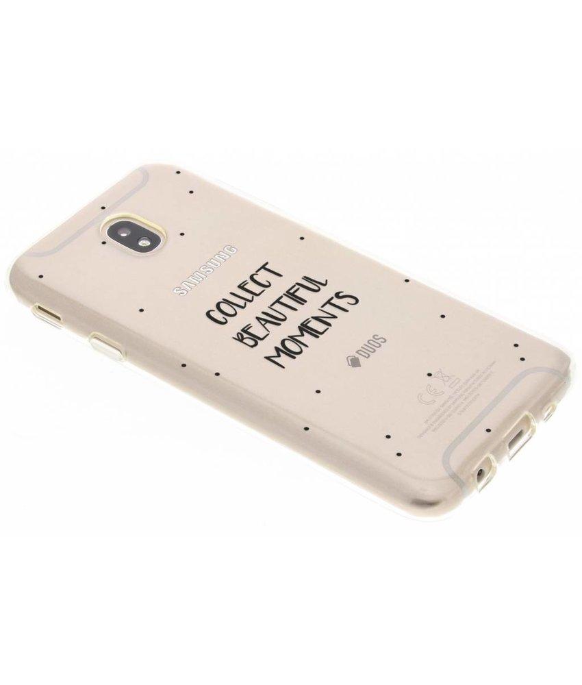 Quote design TPU hoesje Samsung Galaxy J7 (2017)