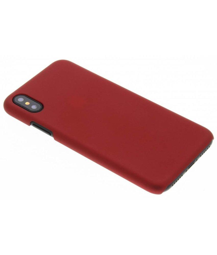 Rood effen hardcase hoesje iPhone Xs / X