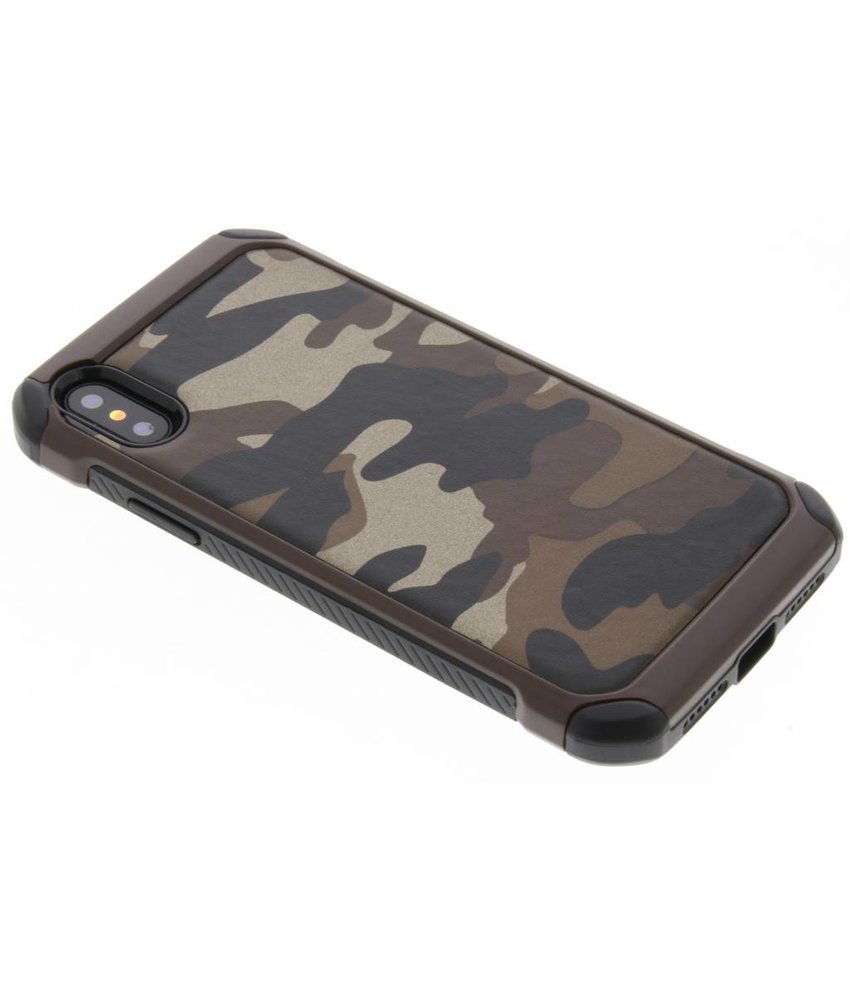 Army defender hardcase hoesje iPhone Xs / X