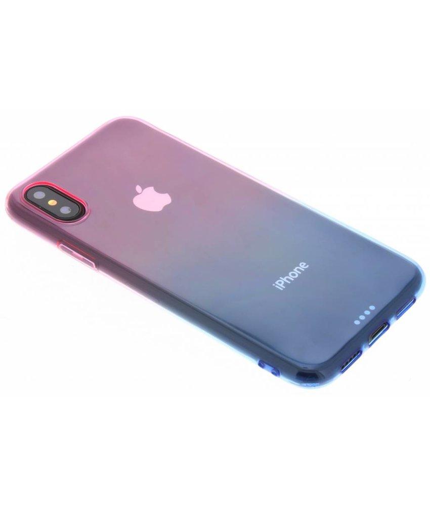 Tweekleurig TPU siliconen hoesje iPhone X