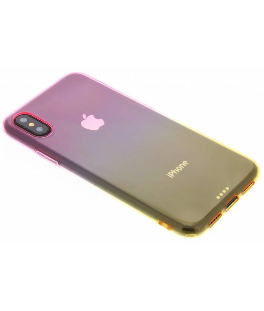 Tweekleurig TPU siliconen hoesje iPhone Xs / X