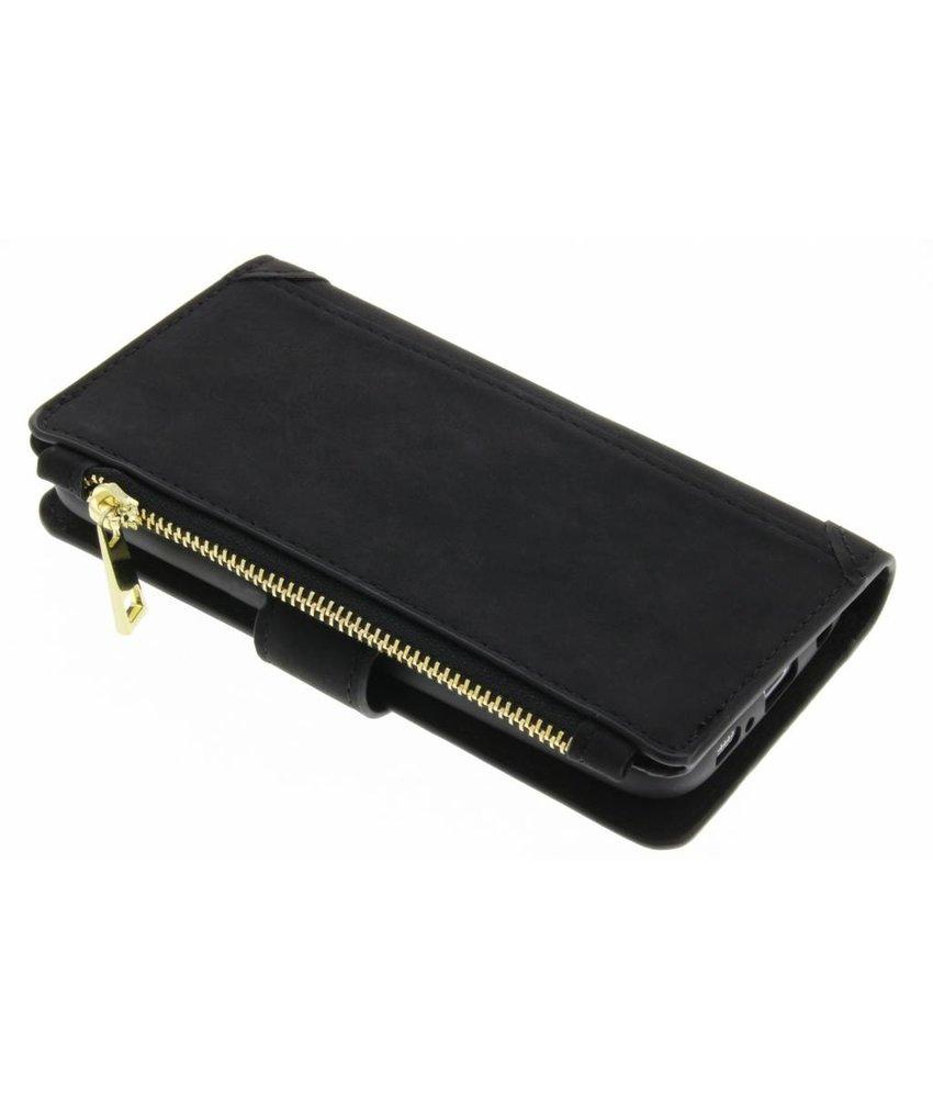 Zwart luxe portemonnee hoes iPhone X