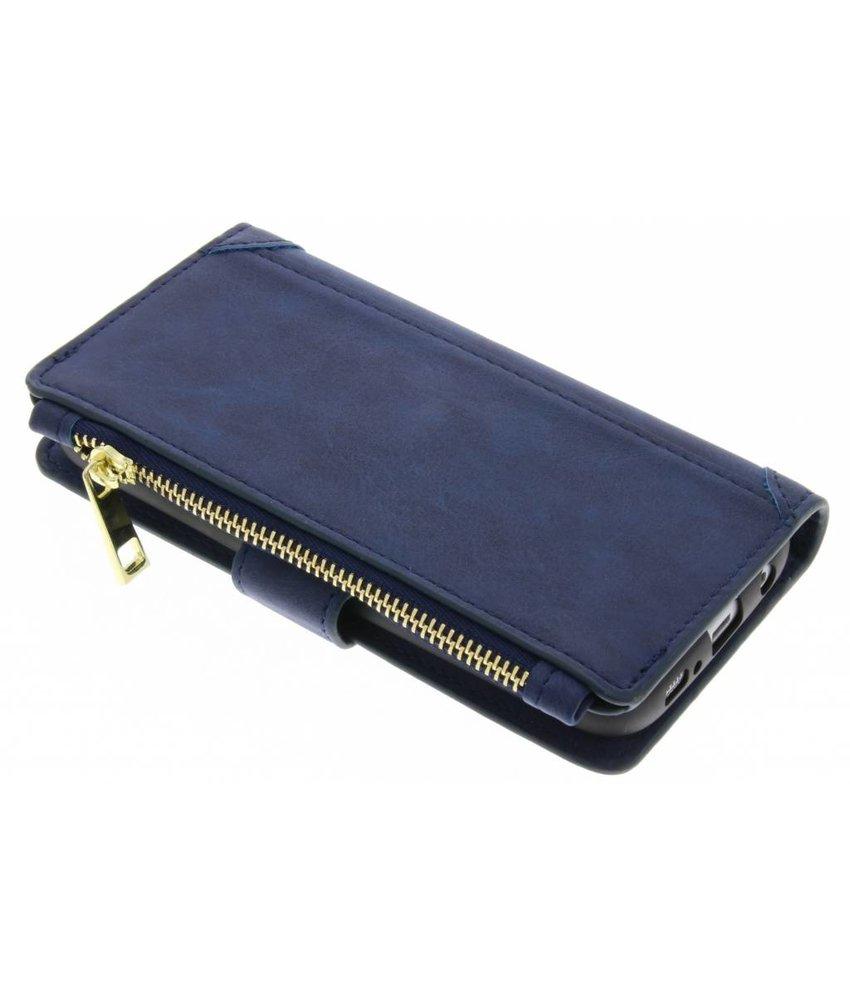 Blauw luxe portemonnee hoes iPhone X