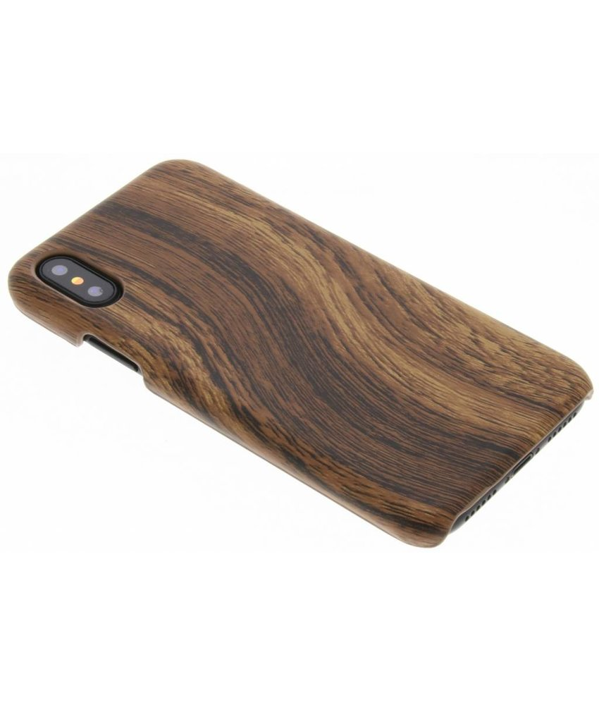 Hout design hardcase hoesje iPhone Xs / X