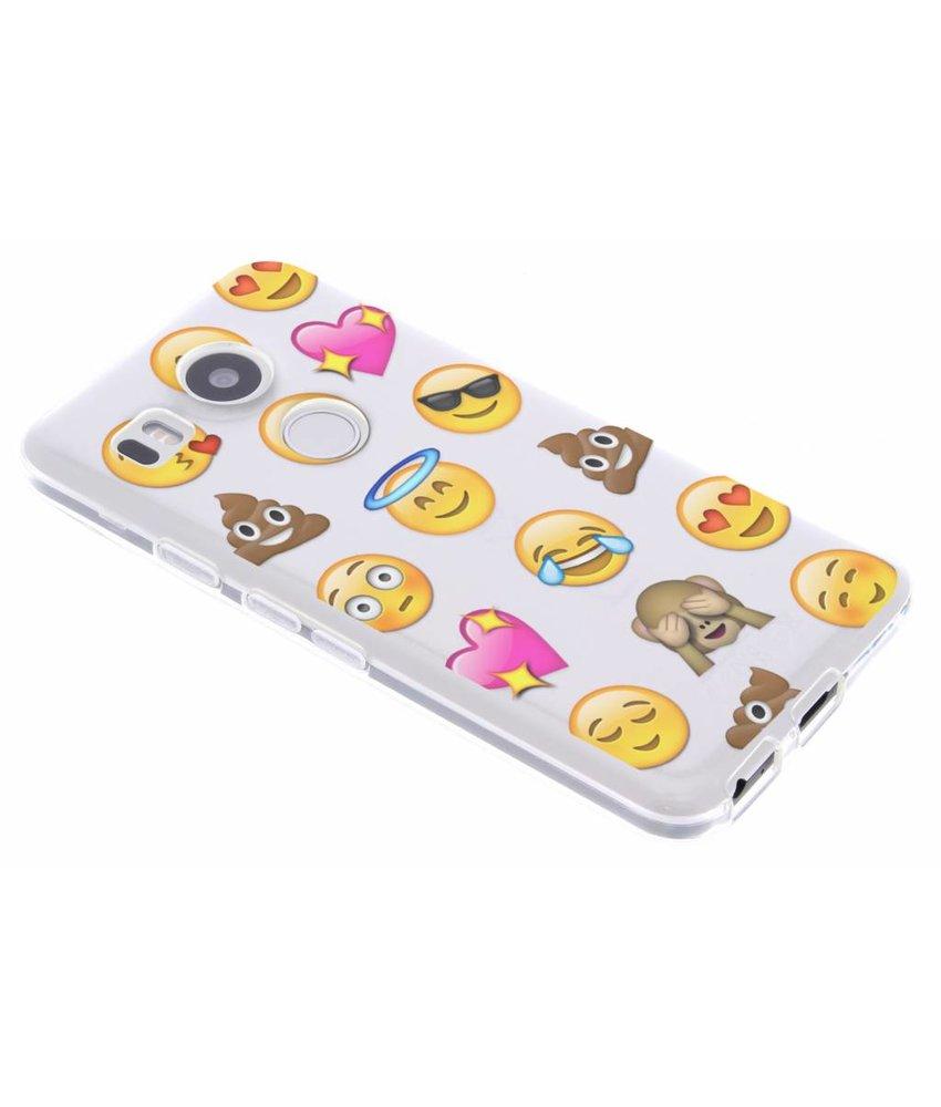 Emoji design TPU hoesje LG Nexus 5X
