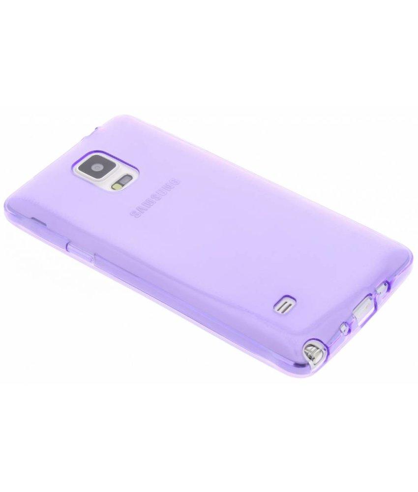 Paars transparant gel case Samsung Galaxy Note 4