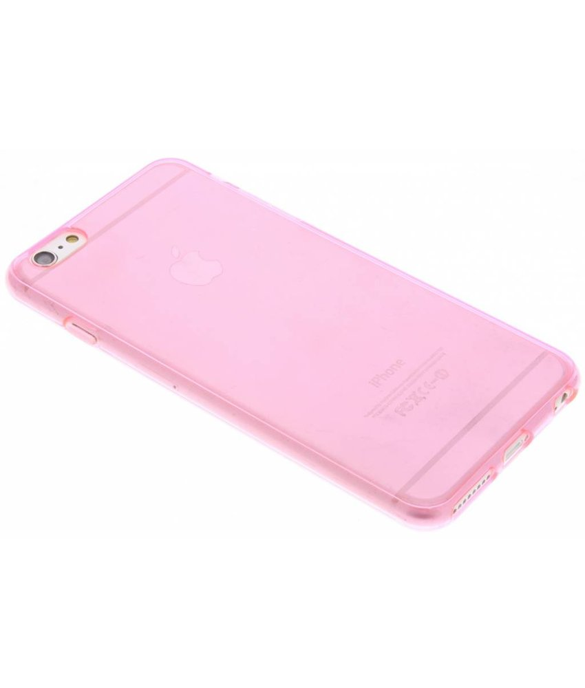 Roze transparant gel case iPhone 6(s) Plus