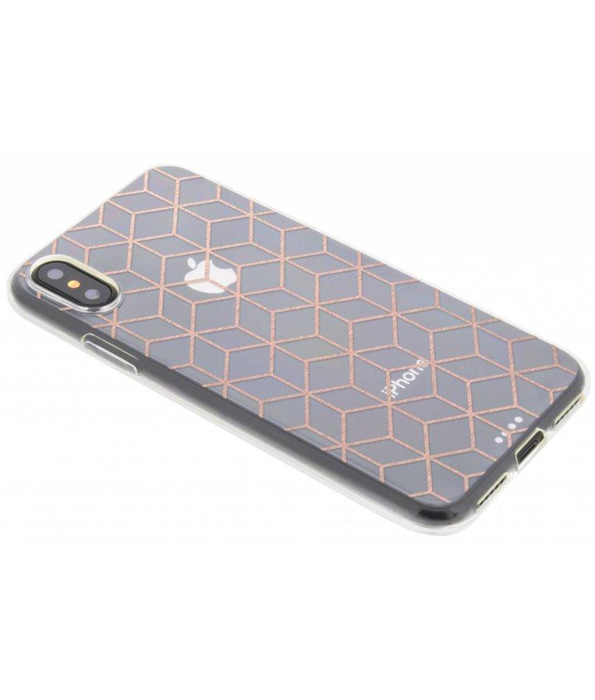 Cubes design TPU hoesje iPhone X