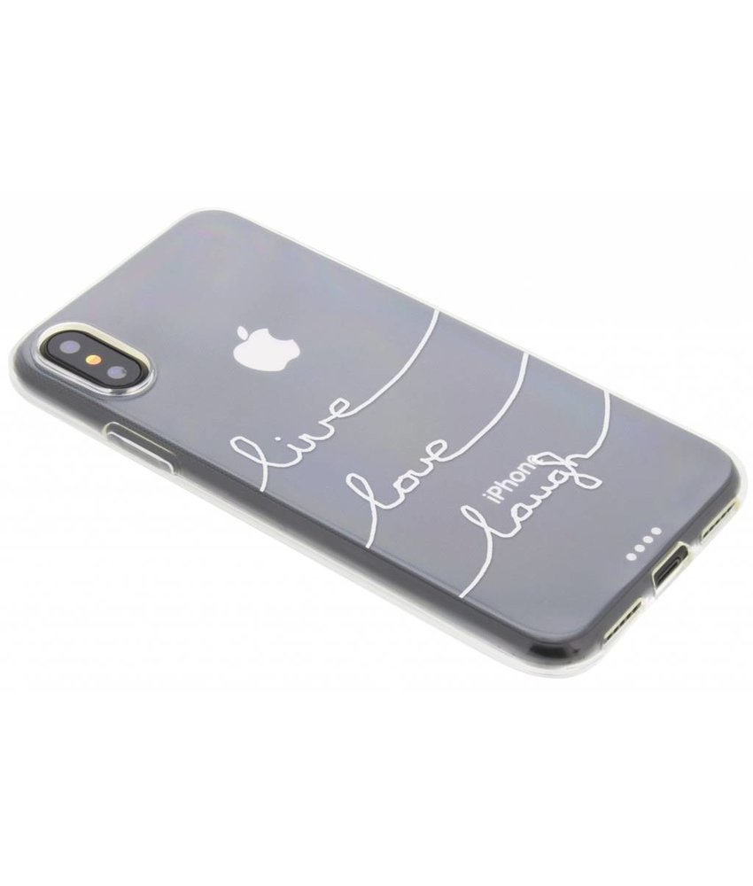 Quote design TPU hoesje iPhone Xs / X