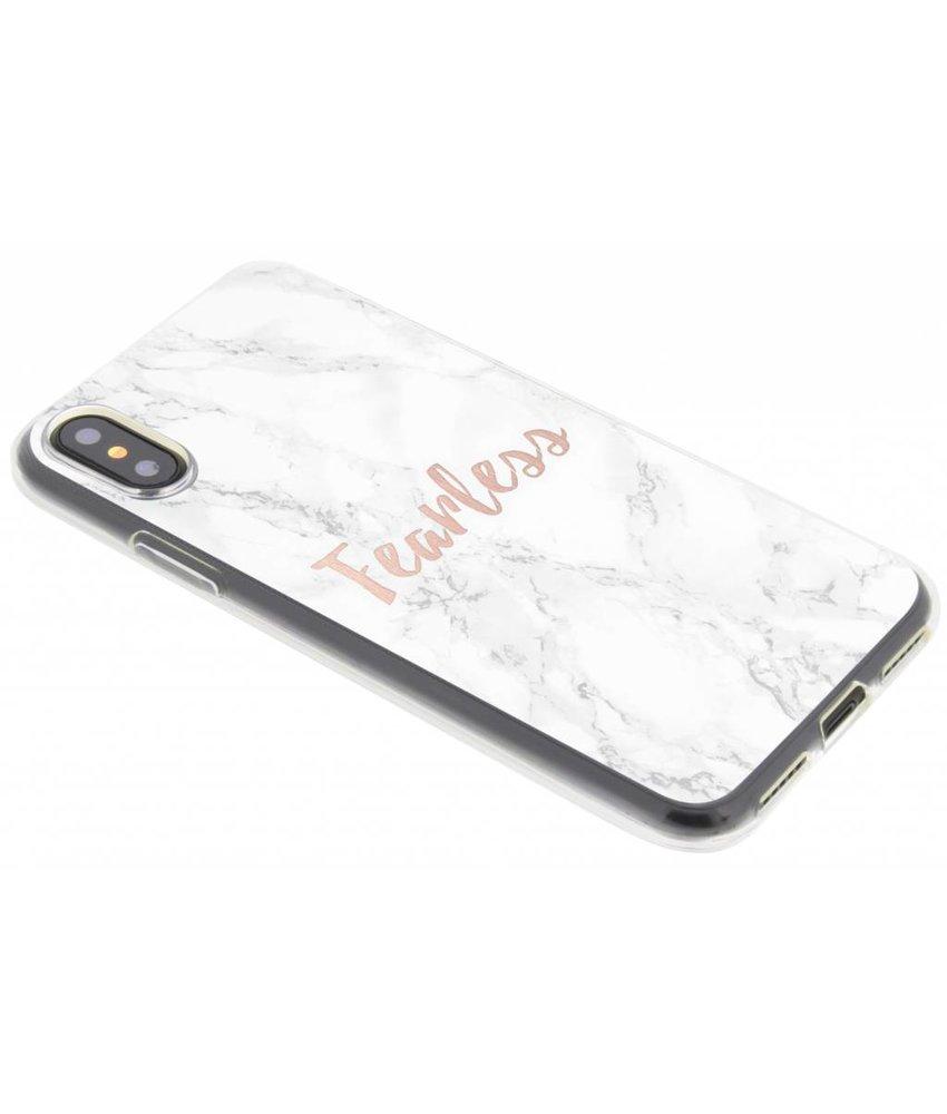 Quote design TPU hoesje iPhone Xs / X