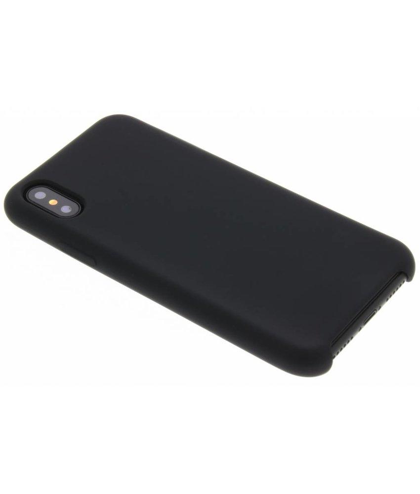 Zwart siliconen hoes iPhone X