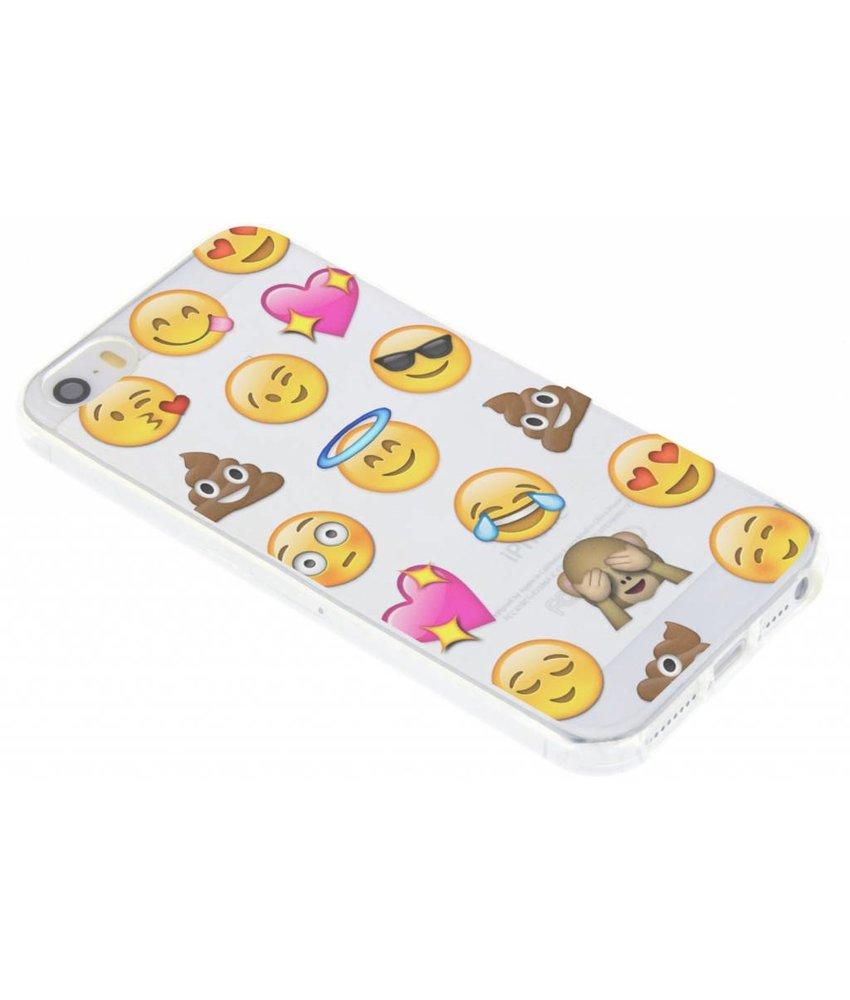Emoji design TPU hoesje iPhone 5 / 5s / SE