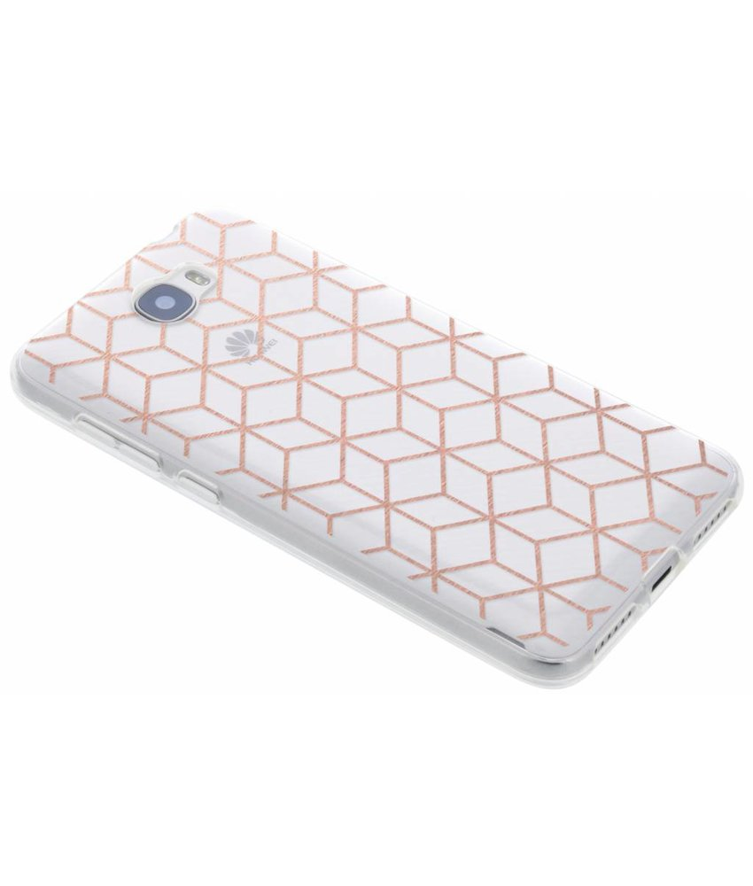 Cubes design TPU hoesje Huawei Y5 2 / Y6 2 Compact
