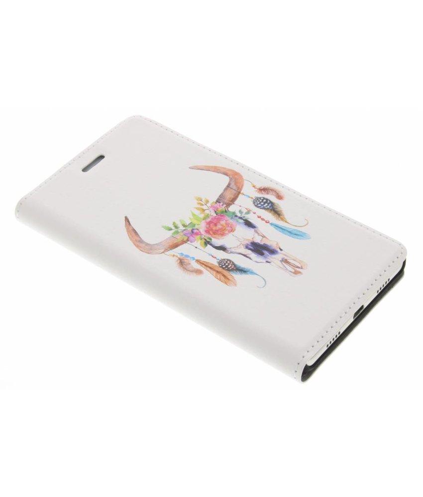 Bull Skull Design Booklet Huawei P8 Lite