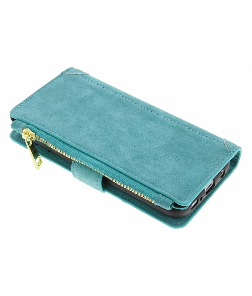 Turquoise luxe portemonnee hoes Samsung Galaxy S6 Edge