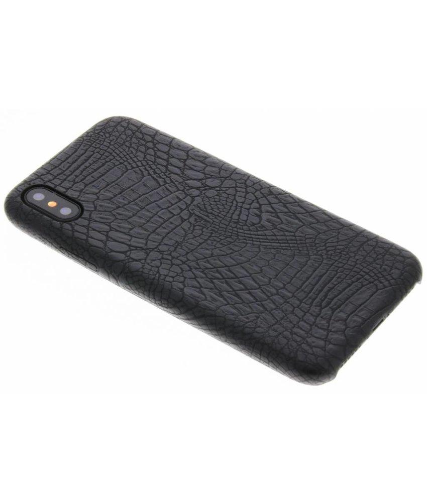 Zwart slangen TPU case iPhone Xs / X